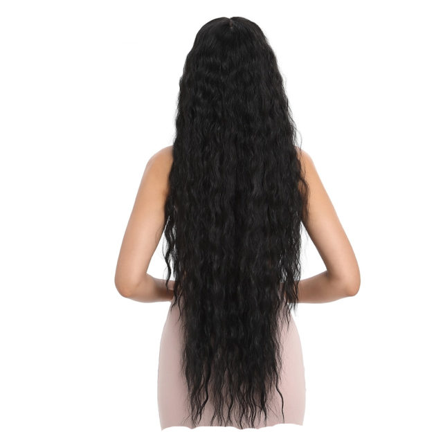 Hair Synthetic Wigs For Black Women Long Curly Hair 42 Inch Cosplay Blonde Ombre Lace Front Wig Synthetic Lace Front Wig