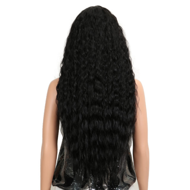 Kinky Curly Ombre Brown Natural Hairline Glueless Heat Resistant 30