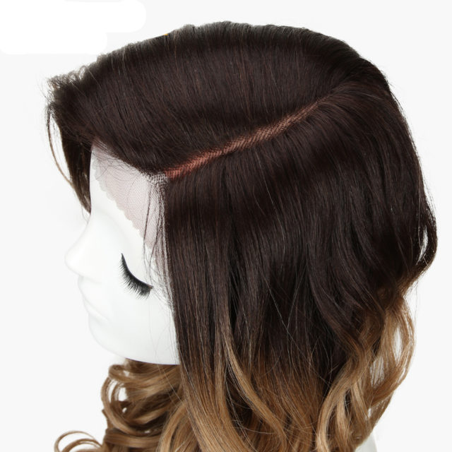 Synthetic Wig Long Wavy Ombre Brown Deep Wave Wig Cosplay 22Inch Wigs For Black Women Synthetic Lace Front Wig