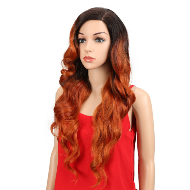 Lace Front Wig Long Synthetic Wig Ombre 613 Blonde Loose Wave Hair Synthetic Wigs For Black Women White Cosplay Wig