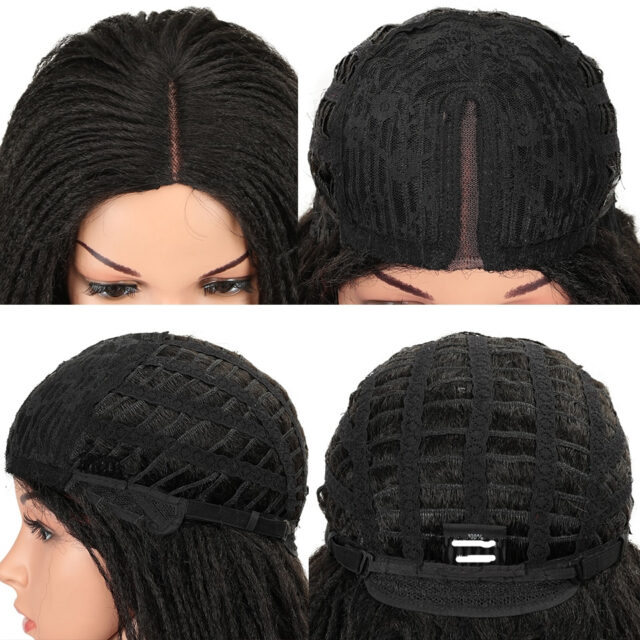 26 Inch Synthetic Lace Front Wigs For Black Women Wigs For White Women Crochet Braids Twist Jumbo Dread Faux Locs Hairstyle Long Hair